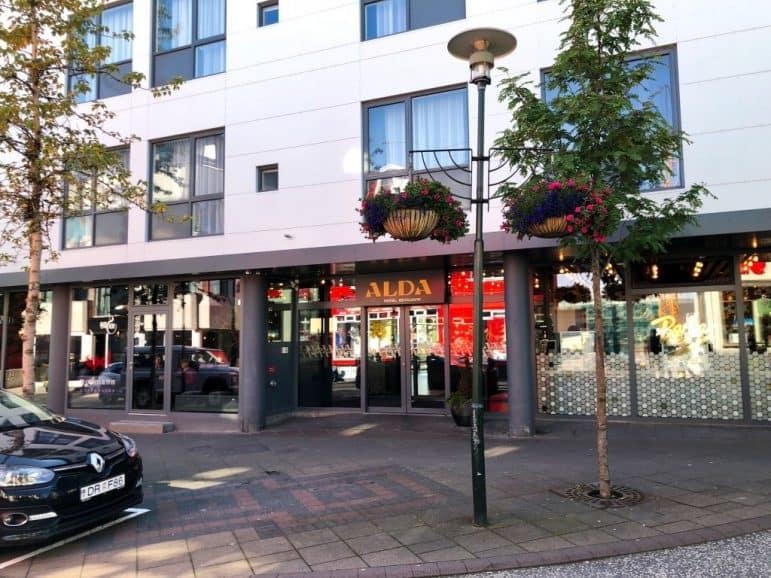 ALDA Hotel Entrance, Reykjavik