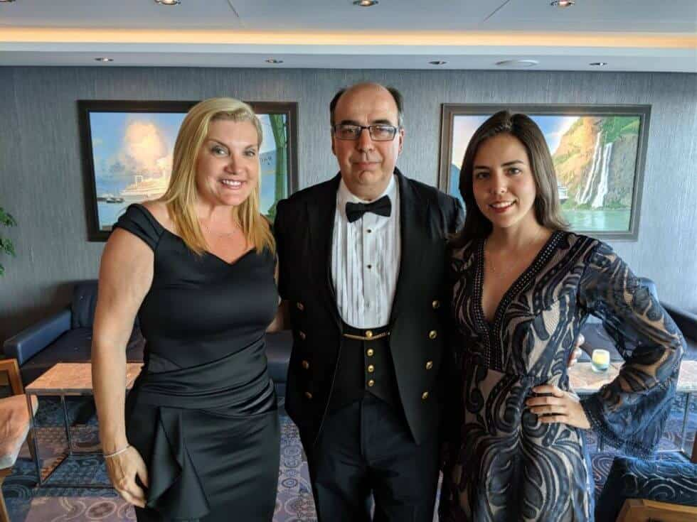 Holland America MS Koningsdam Captain Werner Timmers joining us for the Captains Dinner