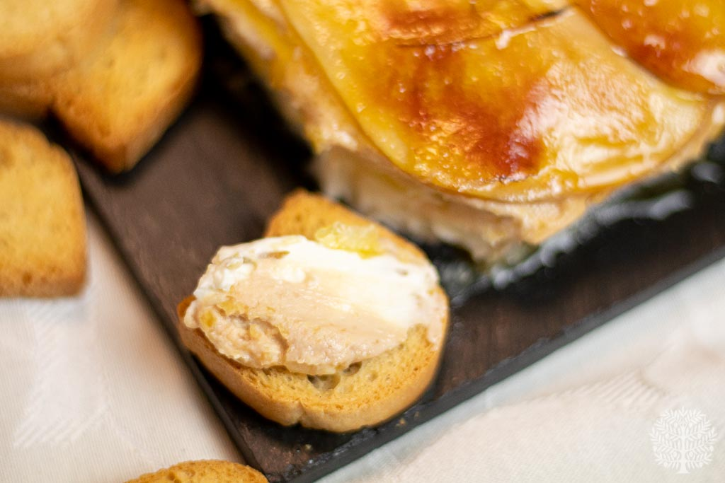 Terrina de foie queso y manzana