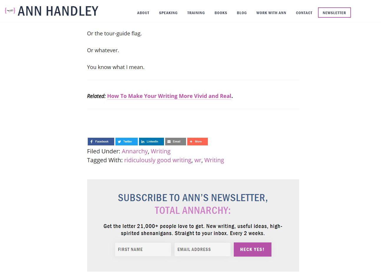 Ann Handley CTA