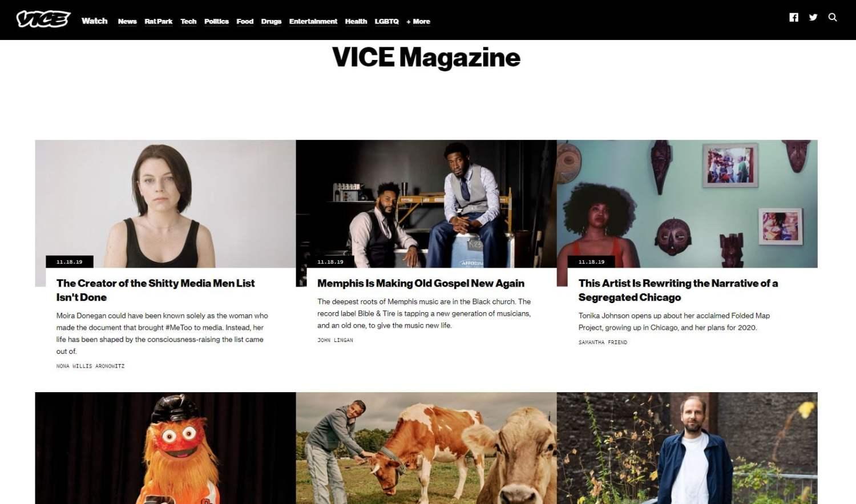 Vice headlines