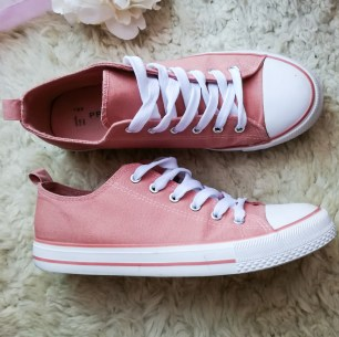 Pink Lace Up Sneaker / £6.00