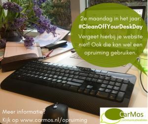 #CleanOffYourDeskDay