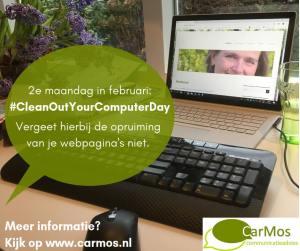2e maandag in februari; opruiming webpagina's