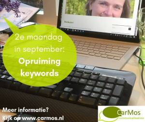 2e maandag in september; opruiming keywords