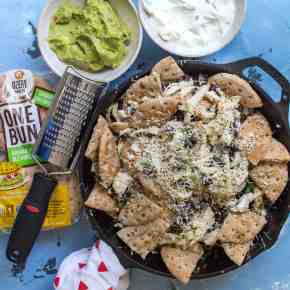 OneBun, Two Ways! Greek Inspired Chicken Nachos ft Ozery Bakery OneBun (+ video!)