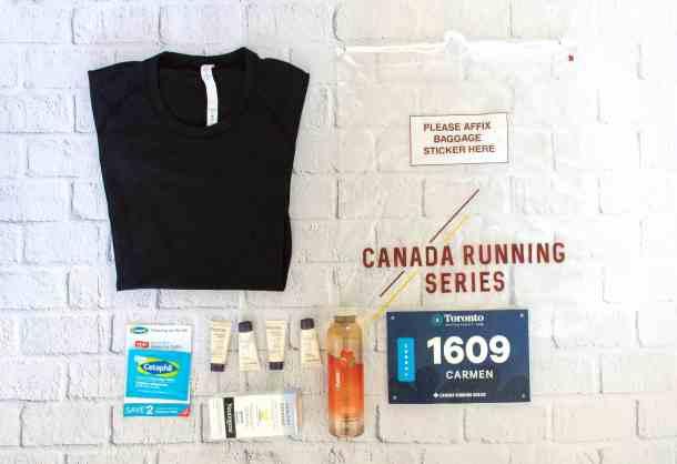 Toronto Waterfront Lululemon 10K race kit swag bag