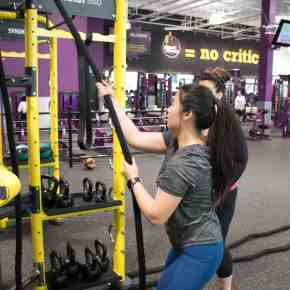 Introducing Planet Fitness. No Frills, No Judgement, Low Cost Gym at Gerrard Square, Toronto.