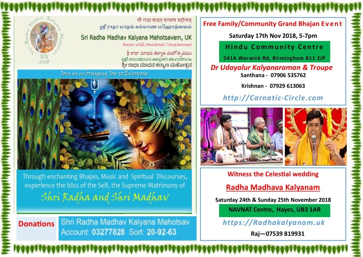 Grand Bhajans – Dr Udayalur Kalyanaraman Birmingham, UK