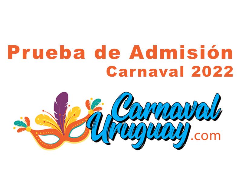 pruebas de admision carnaval 2022