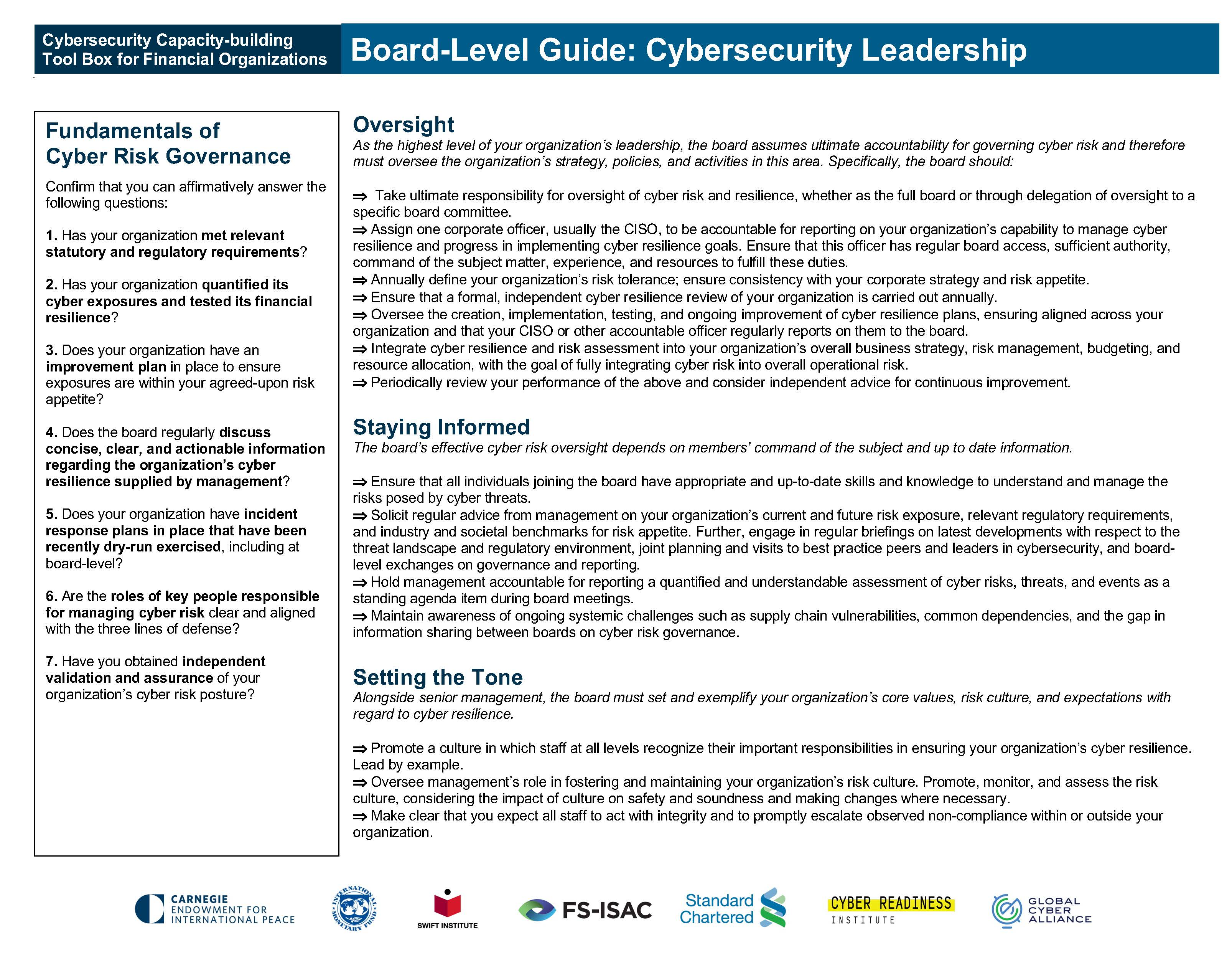 Board Level Guide Cybersecurity Leadership