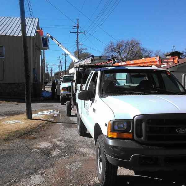 Despite some cold weather and snow, progress continues on our Fiber project in the alley north of Super C Mart.
