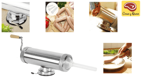 embutidora de carne manual