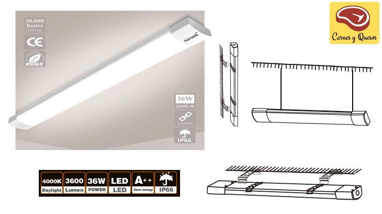 iluminación LED fácil de instalar para carnicerías