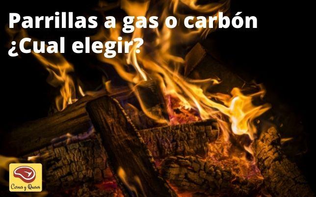 tipos de parrillera carbón eléctrica o gas