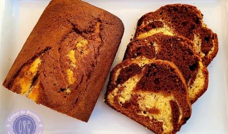 Recette cake marbré aux 3 chocolats