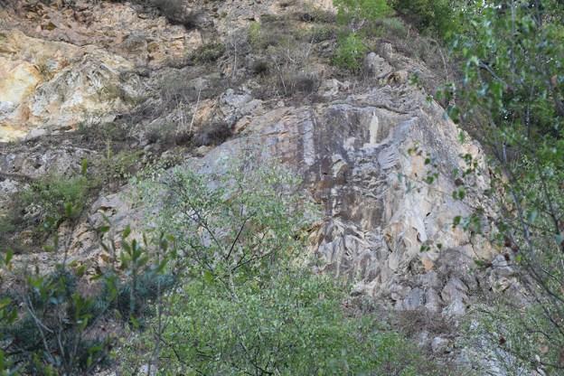 Trouvez la silhouette dans la roche