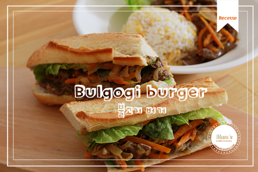 Bulgogi burger (barbecue coréen à la sauce soja)
