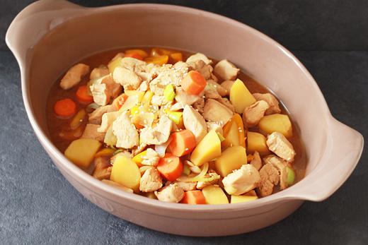 Comment faire du mijoté de poulet aux légumes?