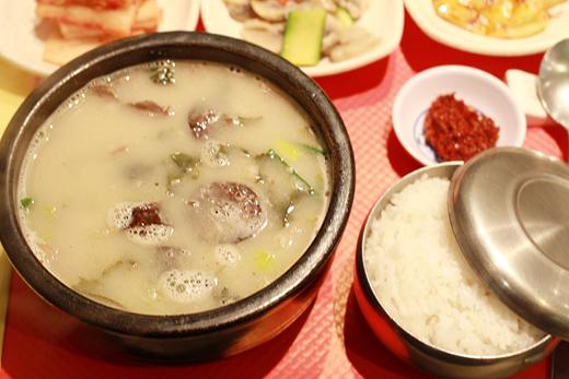 Restaurant coréen à Paris (spécialité Sundaeguk)
