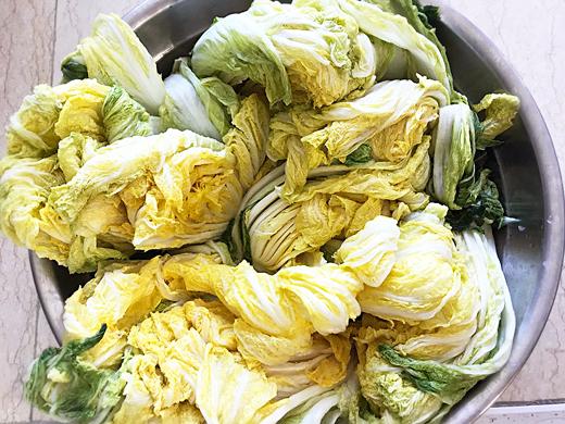 La culture culinaire: gimjang (process de fabrication du kimchi)