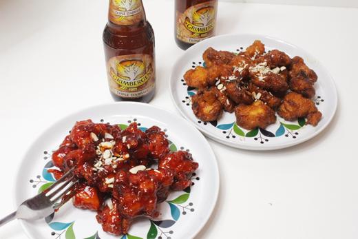 Dak gangjeong : Poulet frit coréen à la sauce soja