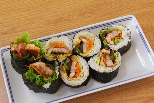 La recette du Kang's kitchen: Samgyeopsal gimbap  (Kimpap)