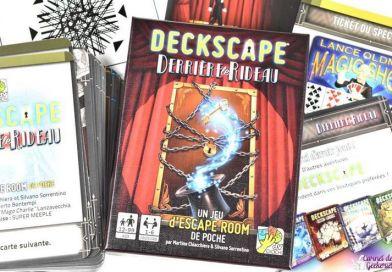 Deckscape – Derrière le rideau – Avis – Super Meeple