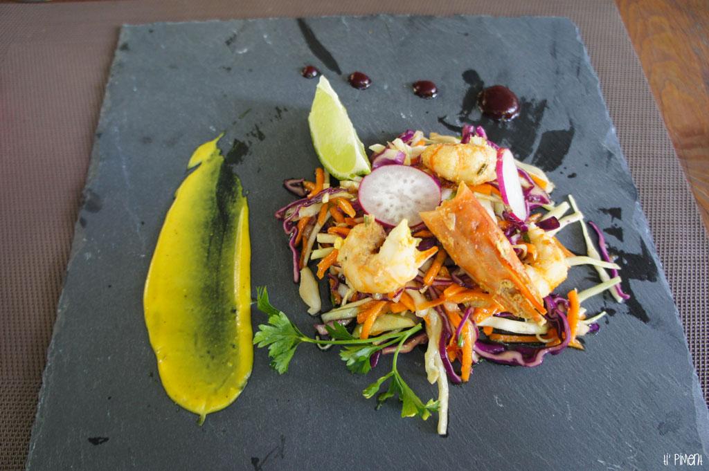 Salade d'ouassous et émincés de choux