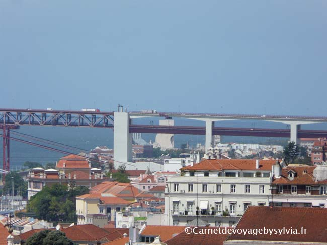 vue sur Lisbonne -depuis le castelo