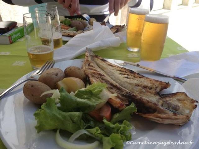 repas braga - poisson grillé et pomme de terre