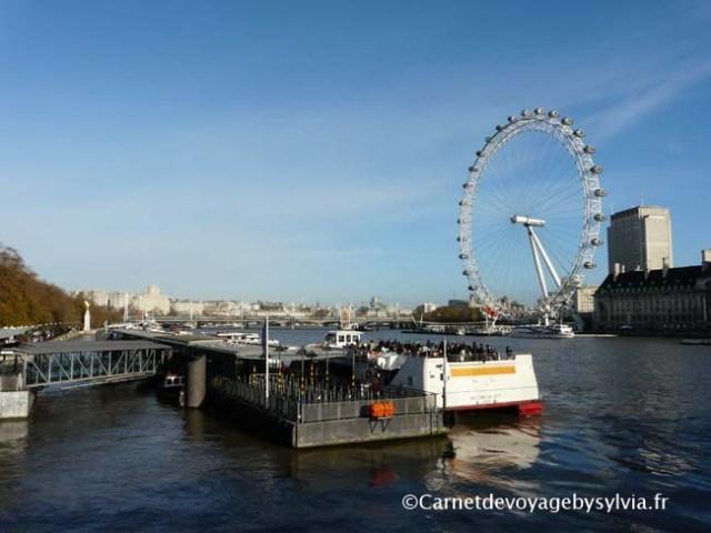 London eye également surnommé Millennium Wheel