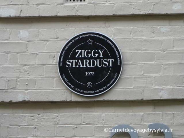 Londres -plaque Ziggy Stardust - Bowie