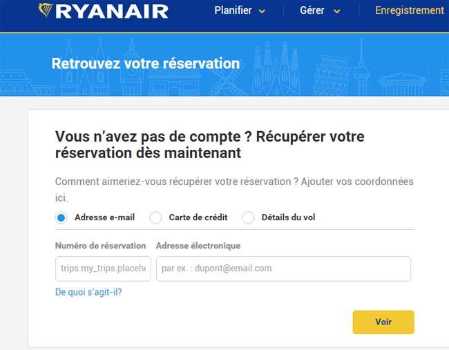 réservation ryanair - go voyages