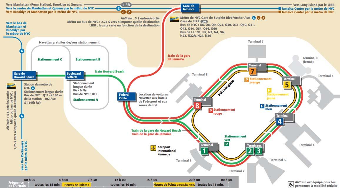 plan de l'airtrain