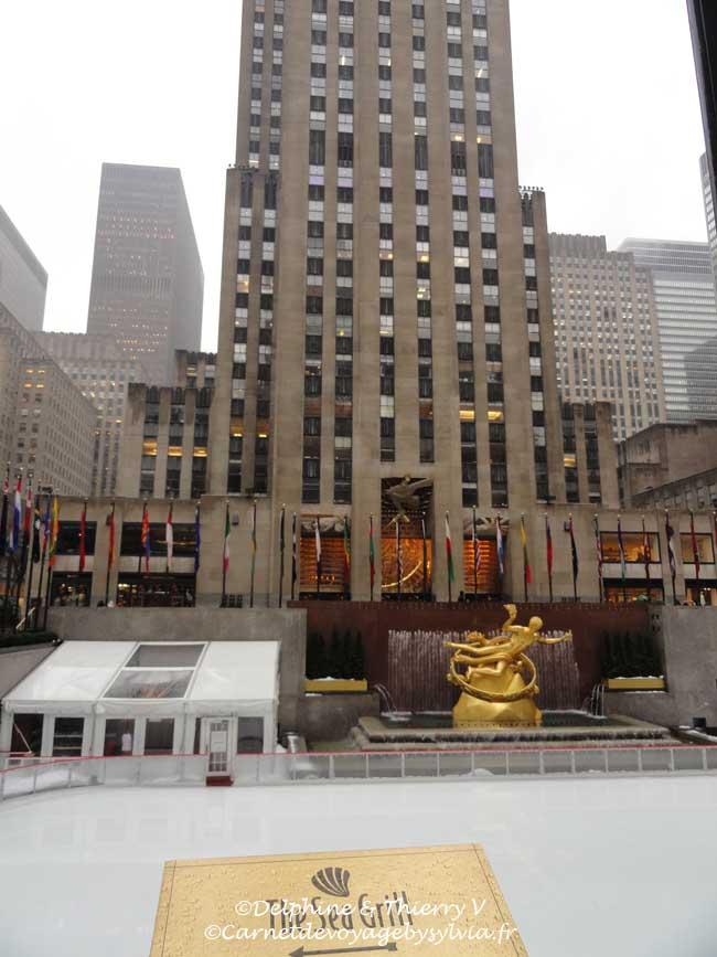 Rockefeller Center - Top of the Rock - statue Prométhée