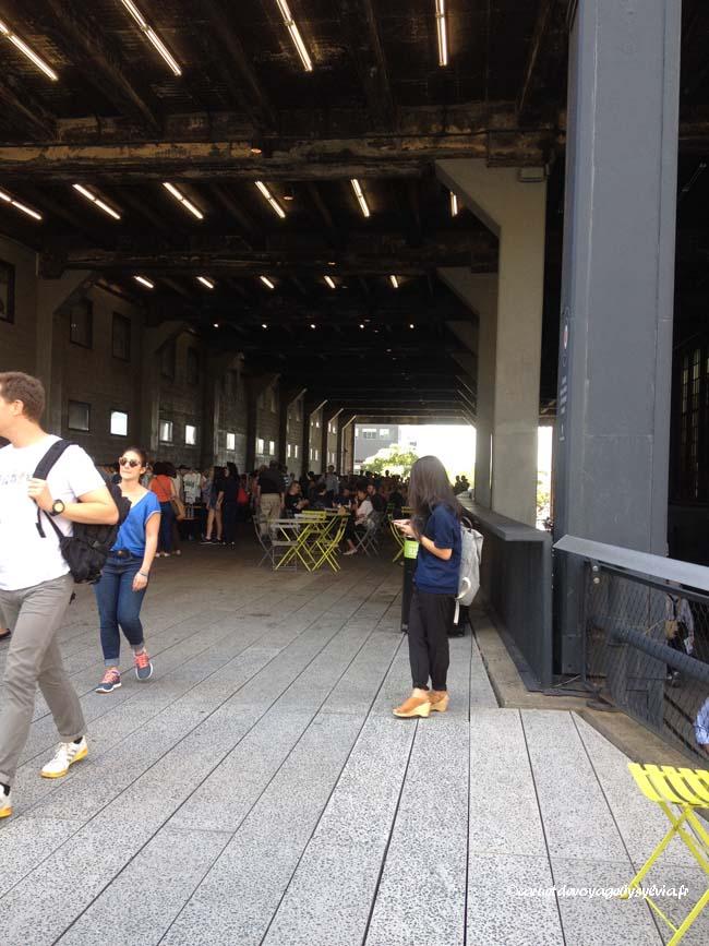 se promener sur la High Line : café