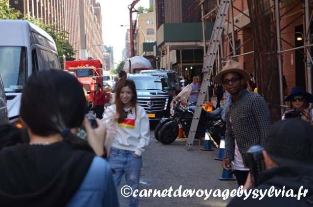 shooting photo en bas de la High Line