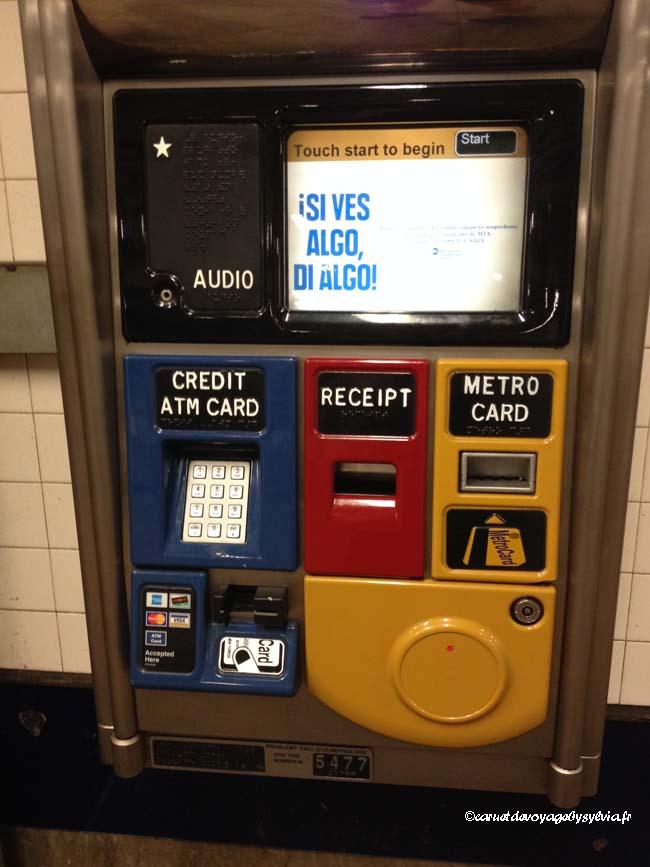 metro card distributeur