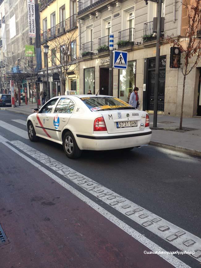 taxi blanc Madrid