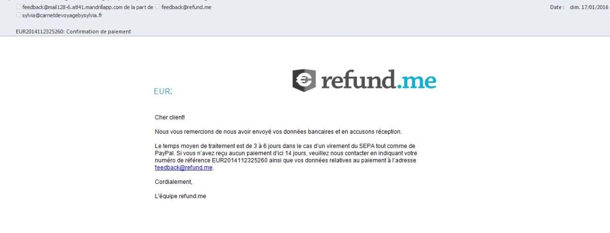 confimation de paiement et délai d'indemnisation pour le retard de vol Ryanair
