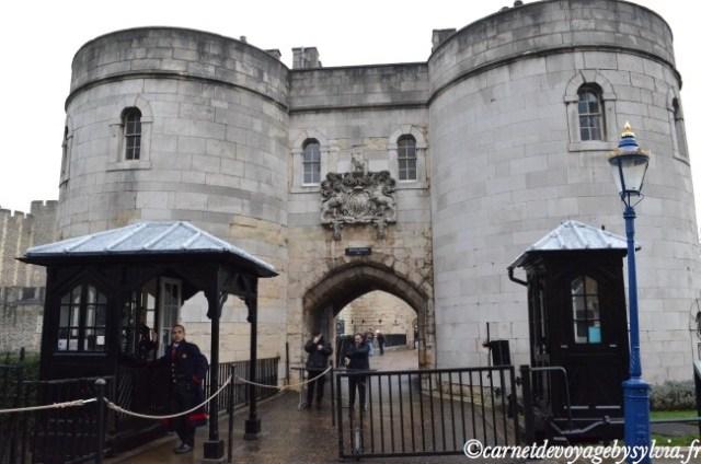 Janvier visite de la Tour de Londres