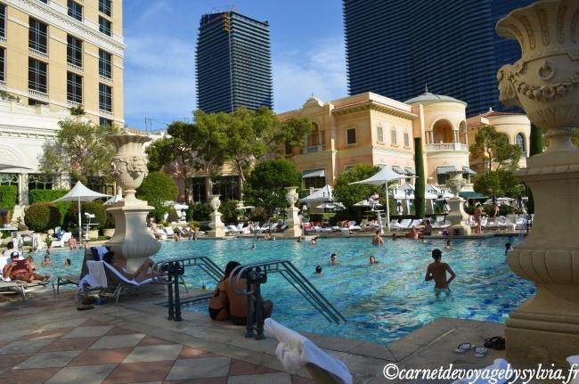 une des 5 piscines du Bellagio
