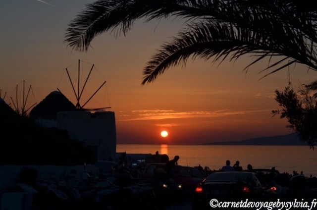 sunset à Mykonos