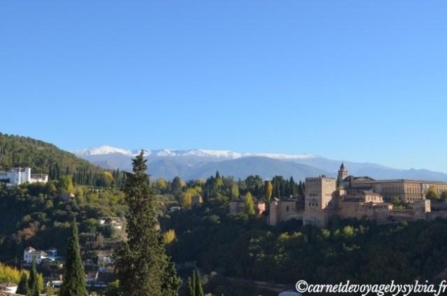 vue sur l'Alhambra depuis le Mirador