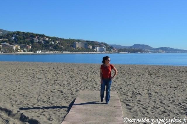 plage à Malaga
