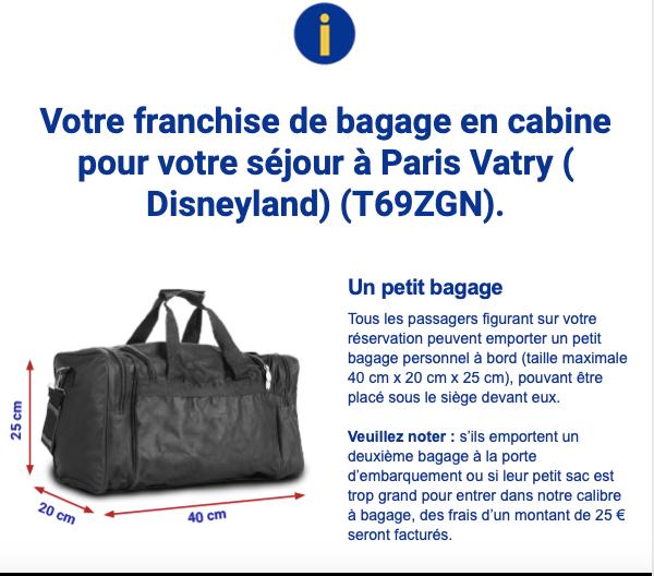 e9676485ba Si vous avez acheté votre billet avec l'option embarquement prioritaire,  vous pouvez transporter gratuitement deux bagages en cabines :
