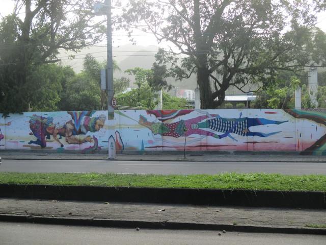street art près de la lagoa de Rio