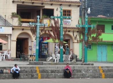 les croix caractéristiques de la région Chiapas