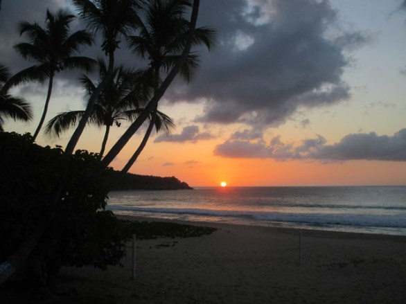 coucher de soleil sur Lambert bay